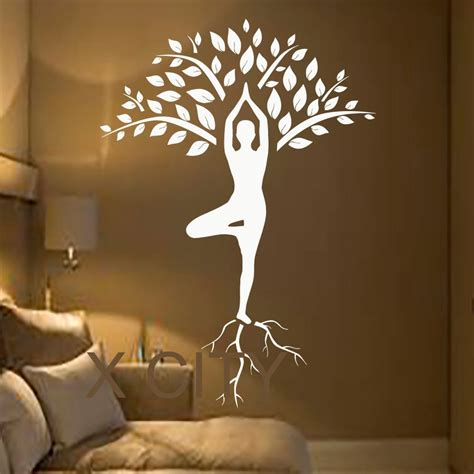home decor wall murals tree wall decals gymnast decal meditation vinyl