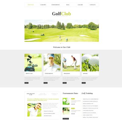 bootstrap themes free golf golf bootstrap themes templatemonster