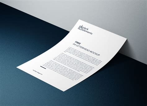 Letterhead And Business Card Mockup Psd Free