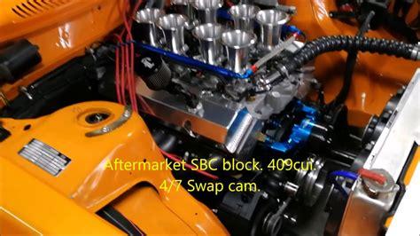 volvo  engineswap smallblock chevy  velocity stacks