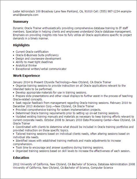 oracle resume sle oracle dba 3 years experience resume sles 28 images