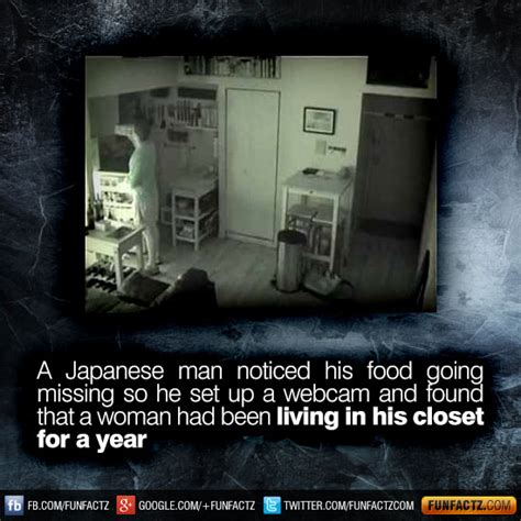 Japanese Living In Closet by In 2008 A Japanese Noticed His Food Going Missing So