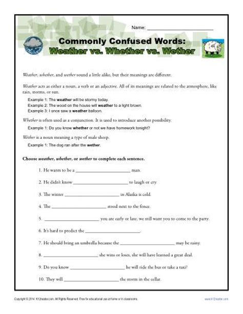 Commonly Misused Words Worksheet by All Worksheets 187 Commonly Misused Words Worksheet Free