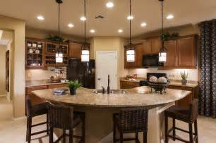Lighting Over Island Kitchen - pulte homes quot enchantment quot model home vail arizona contemporary kitchen other metro by