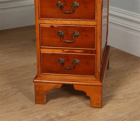 Yew Office Desk Antiques Atlas Georgian Style Yew Wood Green Leather