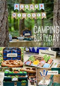 Backyard Campout Ideas A Boy S Camping Themed Birthday Party Spaceships And