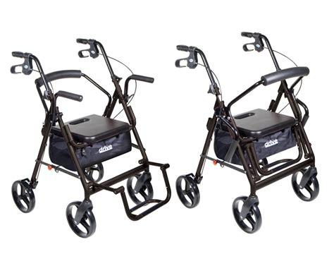 Walker Transport Chair by Rs15 795bk Duet Transport Wheelchair Rollator Walker