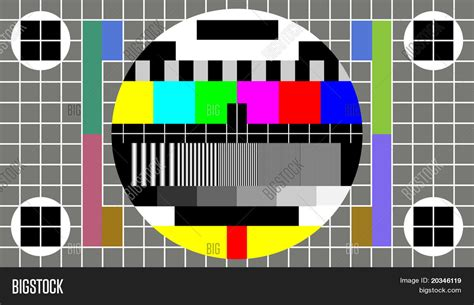 test pattern lcd tv test pattern wide screen tv image photo bigstock