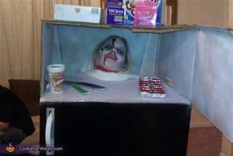 dead frozen head   refrigerator homemade halloween