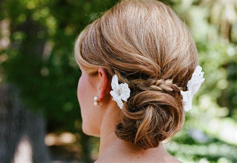 Wedding Hairstyles Braids Low Bun by Low Twisted Bun Wedding Hairstyle With Braid Onewed