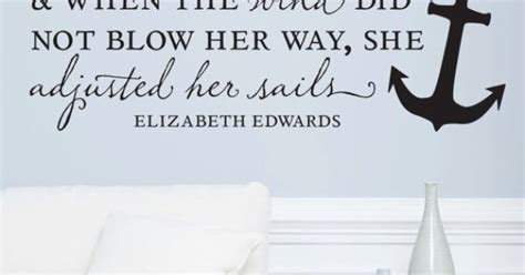sailmaker themes quotes wall vinyl quote she adjusted her sails 48x 20 by
