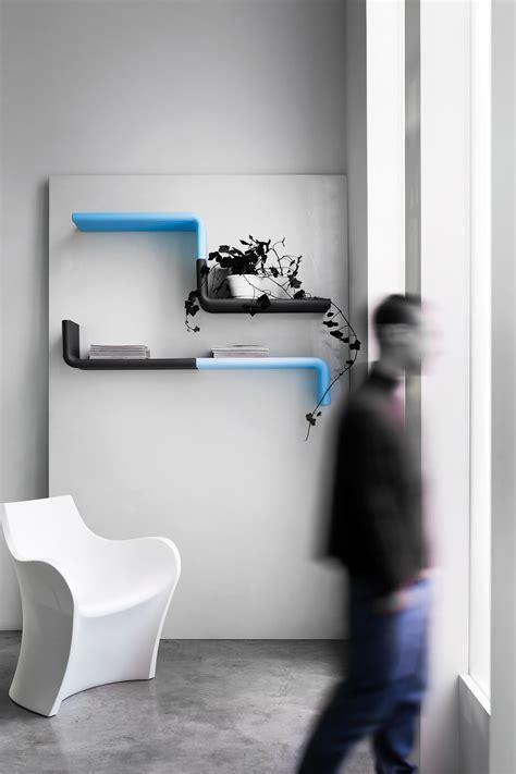 designer shelves fishbone wall shelves of b line are polyethylene wall shelf liquorice by b line design