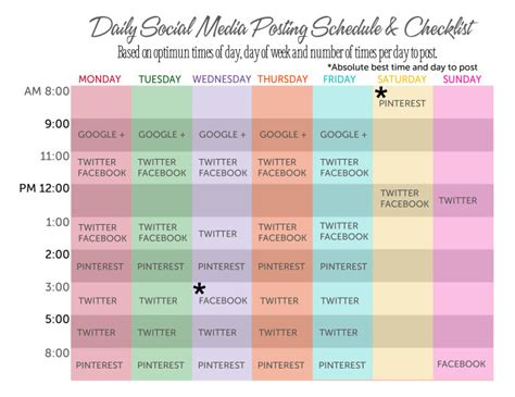 Social Media Posting Schedule This Michigan Life Church Social Media Policy Template