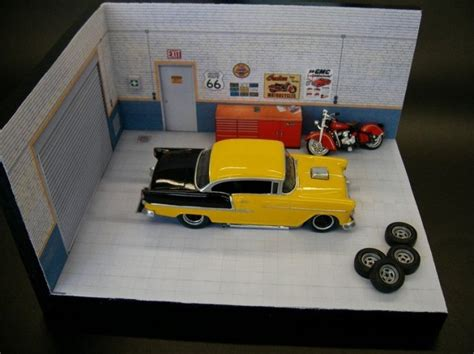 3 Car Garages by Papermau Garage Diorama Paper Model In 1 32 Scale By