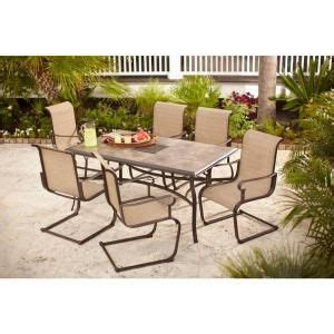 Patio Dining Sets Home Depot Canada Hton Bay Belleville 7 Patio Dining Set Fcs80198st