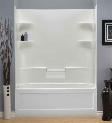 1 bathtub shower mirolin belaire 1 piece acrylic dome less tub and shower