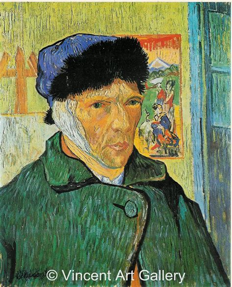 van gogh ear self portrait with bandaged ear by vincent van gogh oil
