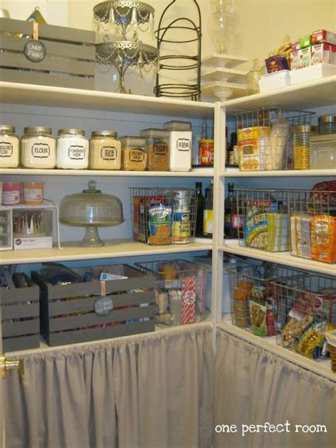 Pantry Curtain by Pantry Makeover Pantry And Curtains On