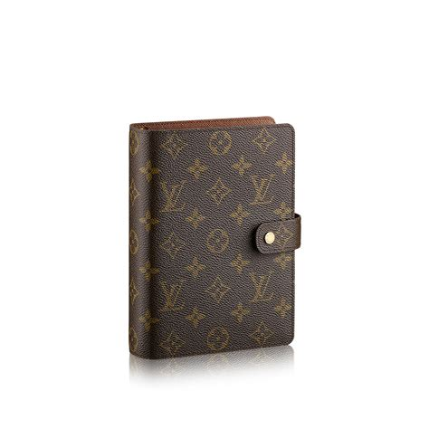 High Fashion Home Decor by Medium Ring Agenda Cover Monogram Canvas Small Leather