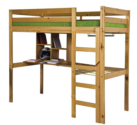 Rimini High Sleeper by High Sleeper Single 3ft Rimini Antique Pine High Bed