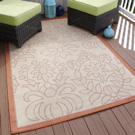 lavish home botanical garden indooroutdoor area rug