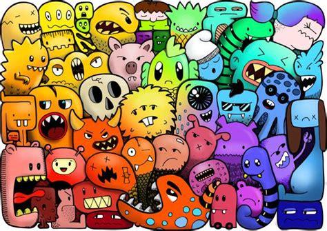 doodle monsters doodle wallpaper www pixshark images