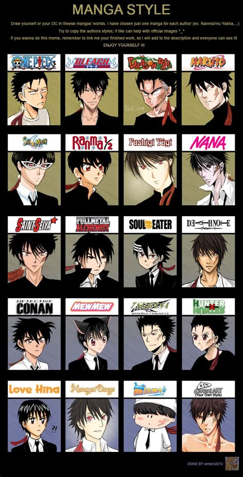 names of anime inspired hair styles 17 best images about manga styles on pinterest originals