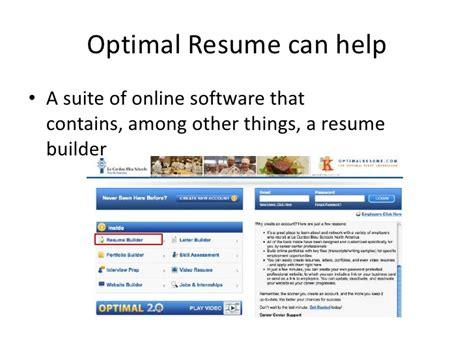 optimal resume builder the basics of optimal resume
