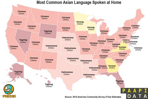 third most spoken language by state breaking 209 ews map shows common asian languages by state