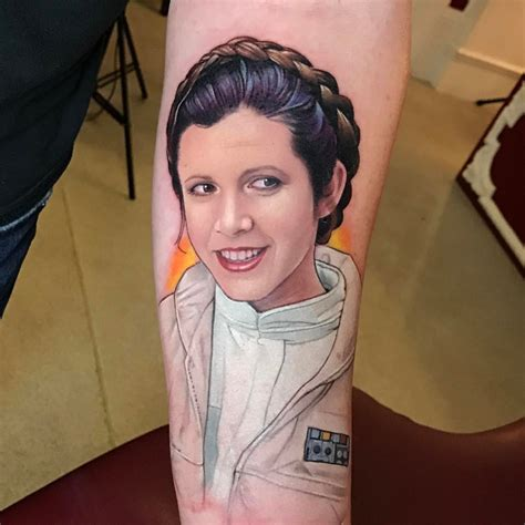 princess leia tattoo color portrait tattoos by david corden
