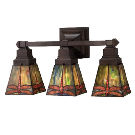 Meyda 48036 Prairie Dragonfly Vanity Light Mission Bathroom Lighting