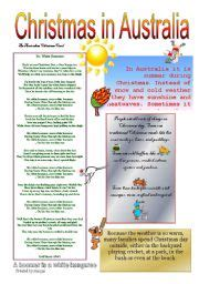 christmas traditions in australia facts exercises in australia