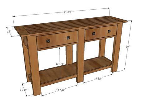 free sofa table plans download console table plans plans free