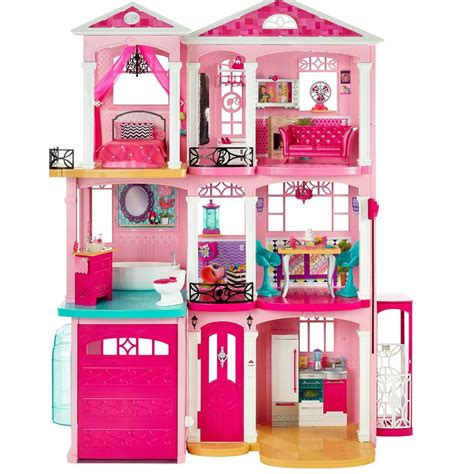 barbie house with elevator barbie dream house dollhouse doll accessories elevator townhouse pink girls play ebay