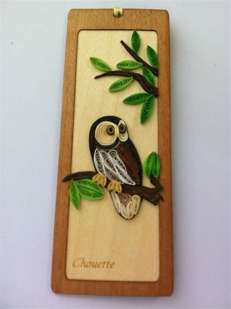 Origami Owl Bookmark - special bookmark owl standing on a tree quilling paper
