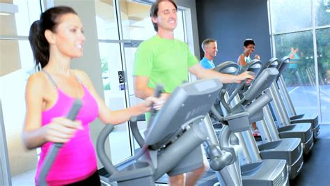 modern lifestyle cross trainer footage stock clips videos
