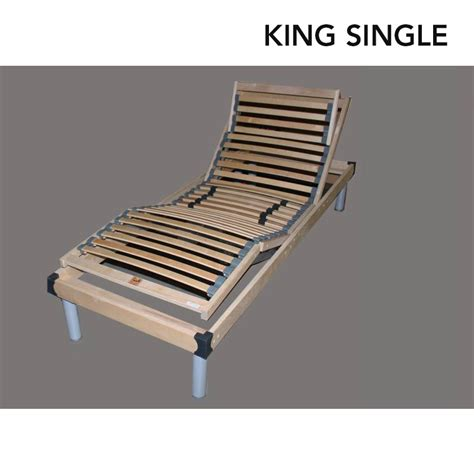electric bed frames leura electric bed frame adjustable king single buy king