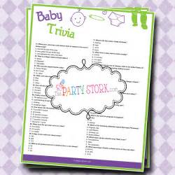 baby shower trivia baby shower printable for boy or