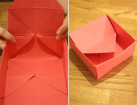 Fold A Paper Box - how to fold a paper box tutorial gift wrappings