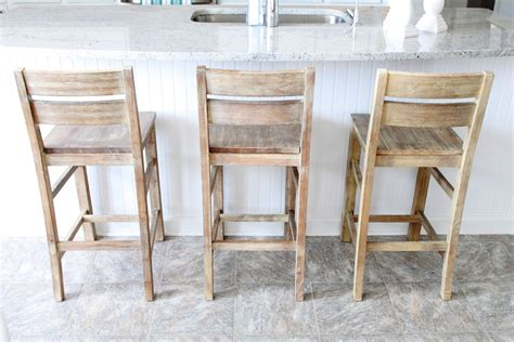 kitchen island chairs with backs we settled on these grey washed bar stools they
