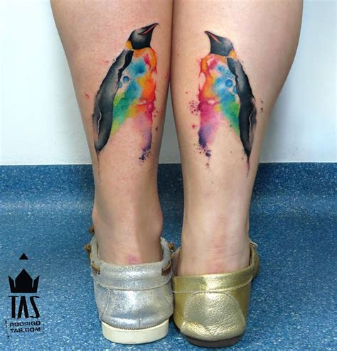 watercolor tattoos for couples watercolor penguins best design ideas