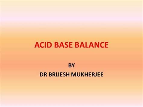 Acid Base Balance Authorstream Ppt Of Acid