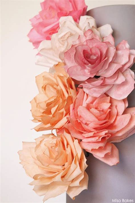 How To Make Wafer Paper Roses - best 25 wafer paper flowers ideas on