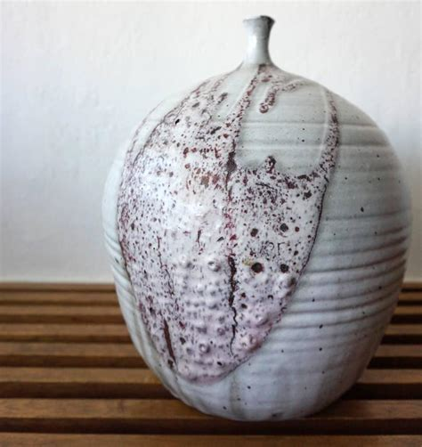 Large Ceramic L by Large Ceramic Vase Studio Pottery With Lava Drip Glaze For