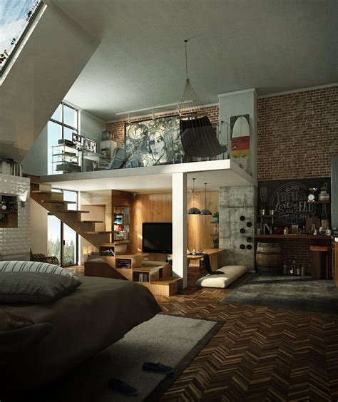 brick loft loft design inspiration