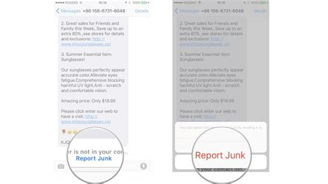 Report Spam Letter how to mute block and report spam on imessage for iphone