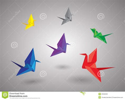 Origami Flying Birds - origami birds royalty free stock photos image 20932038