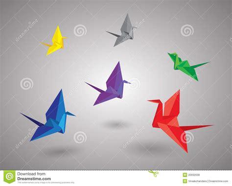 Flying Bird Origami - origami birds royalty free stock photos image 20932038