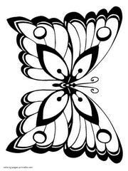 real butterfly coloring pages printable butterfly coloring pages