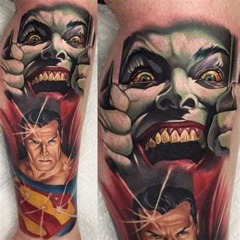 joker and superman tattoo by audie fulfer jr best